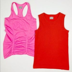 Athleta Seamless Tank Top LOT OF 2 XS X SMALL